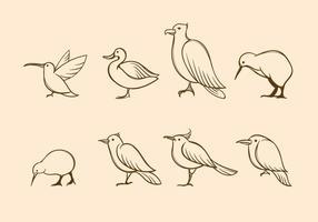 Gratis fågelvektor vektor