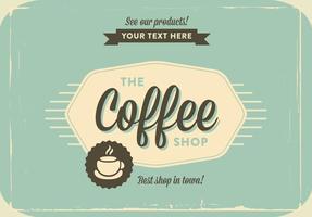Kaffee-Geschäft Weinlese-Vektor