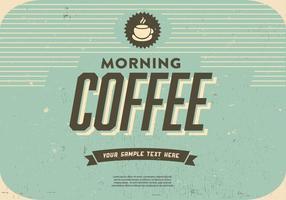 Morgen Kaffee Vektor