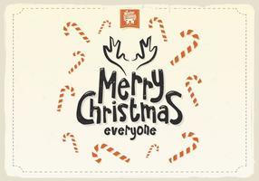 Candy Cane täckt julkort vektor