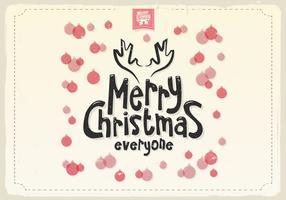Frohe Weihnachten Ornamente Vektor