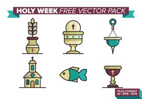 Stilla veckan Gratis Vector Pack