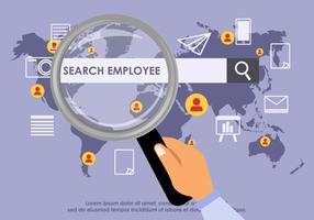 Suchen Mitarbeiter Vektor