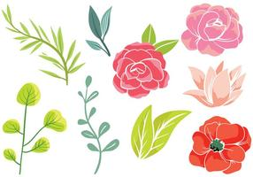 Gratis enkla blommor 2 vektorer