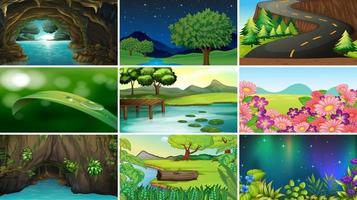 leere leere Landschaft Naturszenen vektor