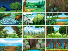 landskap natur scener vektor