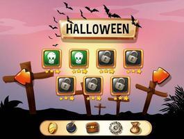 Bildschirmschoner Halloween-Thema Spielvorlage vektor