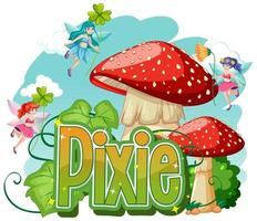 pixie-logotyp med små älvor