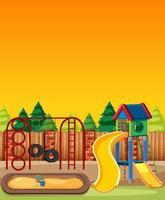 barnlekplats i parken tecknad stil