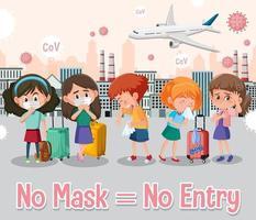ingen mask, inget postskylt