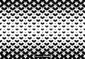 Vector Black Hearts Nahtlose Muster
