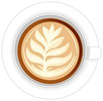 isolierte Tasse Kaffee auf weißem Hintergrund