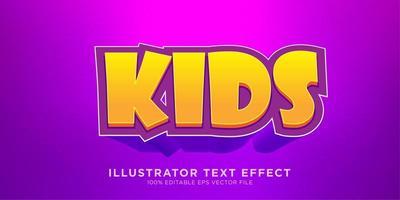 mutiges Kindertext-Effekt-Design vektor