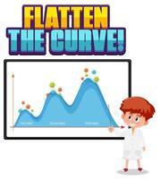 platta ut kurvan med ett andra vågdiagram vektor