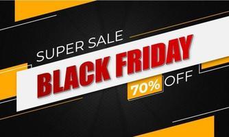 svart fredag super försäljning banner vektor