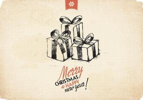 Skizzierte Geschenke Vektor