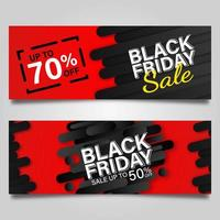 svart fredag banner design mall set