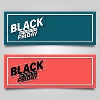 svart fredag konceptkuponguppsättning vektor