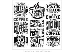Beste Kaffee-Sammlung Vektor