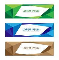 modernes Banner Low Poly Frame Design Set vektor