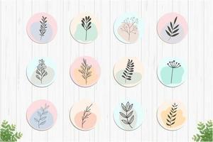 Sammlung romantischer botanischer Highlights