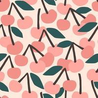 sömlösa mönster med körsbär