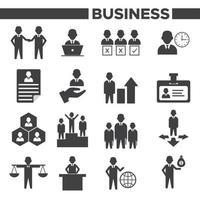 affärsledning och mänskliga resurser ikoner set