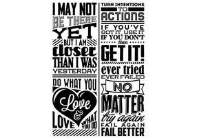 Liebe und Motivation Vektor