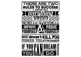Regeln für Erfolg Vektor