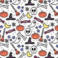 Halloween nahtloses Muster vektor