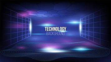 abstrakt högteknologisk kommunikationsteknikbakgrund vektor