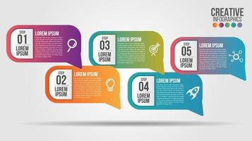 5-stufige Business-Infografiken