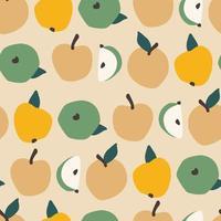 sömlösa mönster med äpplen
