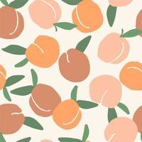 nahtloses Muster mit Pfirsichen vektor