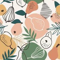 sömlösa mönster med enkla päron