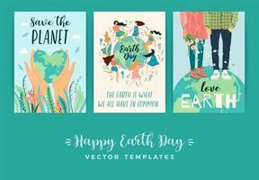 Tag der Erde retten Naturvorlagen