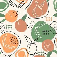 sömlösa mönster med persikor