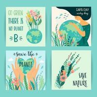 jorden dag spara natur mallar vektor