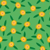 folk sömlös blommönster modern abstrakt design