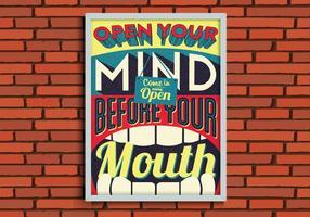 Öffne deinen Verstand vektor