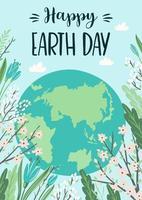 Tag der Erde retten Naturplakat