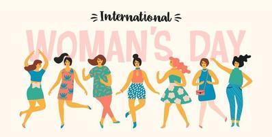 internationell kvinnodagsdesign vektor