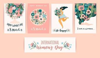 internationella kvinnodagskort vektor