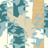 konstnärligt sömlöst mönster med abstrakta blad vektor