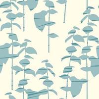 künstlerisches nahtloses Muster mit abstrakten Blättern vektor