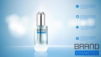 realistisk kosmetisk skönhetsförpackningsmall vektor