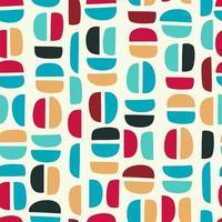 einfaches nahtloses Muster mit abstrakten Formen