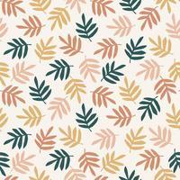 enkla blad sömlösa mönster vektor