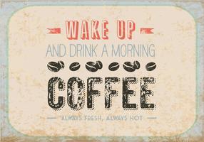 Drick en morgon kaffe vektor