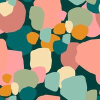 abstrakta sömlösa mönster med färgglada fläckar vektor